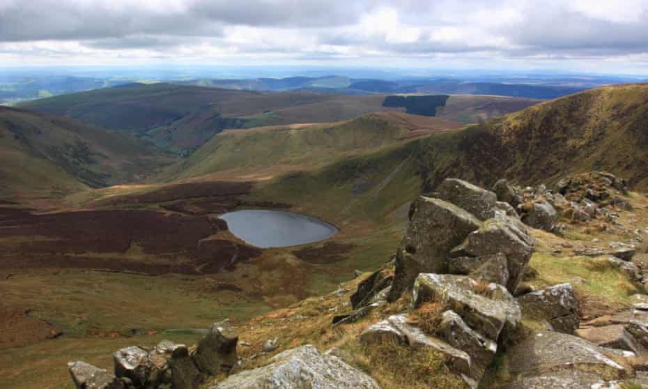 The view from the summit of Cadair Berwyn.