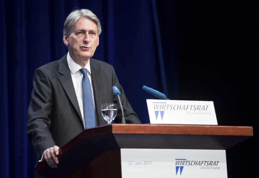 Philip Hammond speaking at the Economy Day of the Economic Council in Berlin.