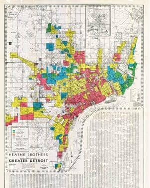 The FHA Housing Map for Detroit circa 1939.