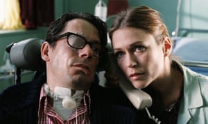 Mathieu Amalric and Marie-Josée Croze in the 2007 film adaptation of Jean-Dominique Bauby's memoir The Diving Bell and the Butterfly.