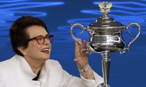 Billie Jean King used her platform at this year's Australian Open to question their continued use of Margaret Court's name on one of their show courts.