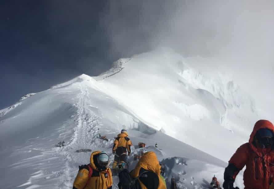 Climbers on Everest