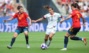 Catch me if you can, says Tobin Heath.