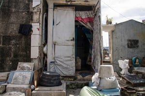 In 1996, Manila North Cemetery residents appealedfor a school, washroom and church. Nothing happened