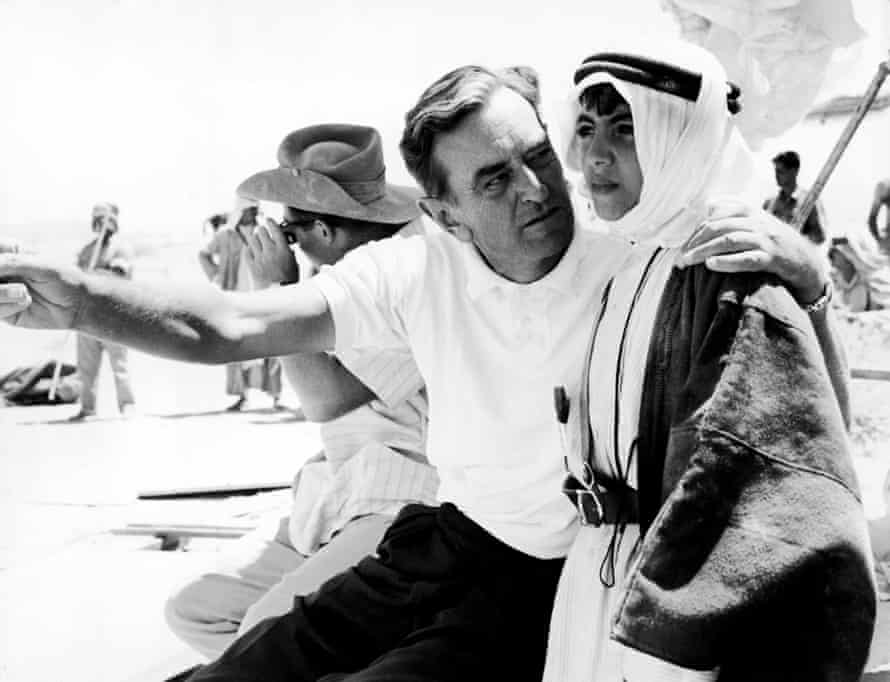 David Lean on the set of Lawrence of Arabia