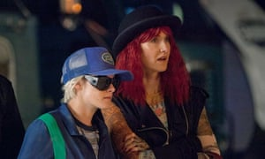 'Just because you played a writer doesn't mean you are one' … Kristen Stewart and Laura Dern in JT LeRoy.