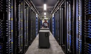 Facebook's data storage vault in Lule, northern Sweden.