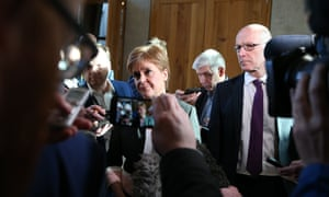 Nicola Sturgeon addresses the media on Friday after the revelations about Derek Mackay's private life.