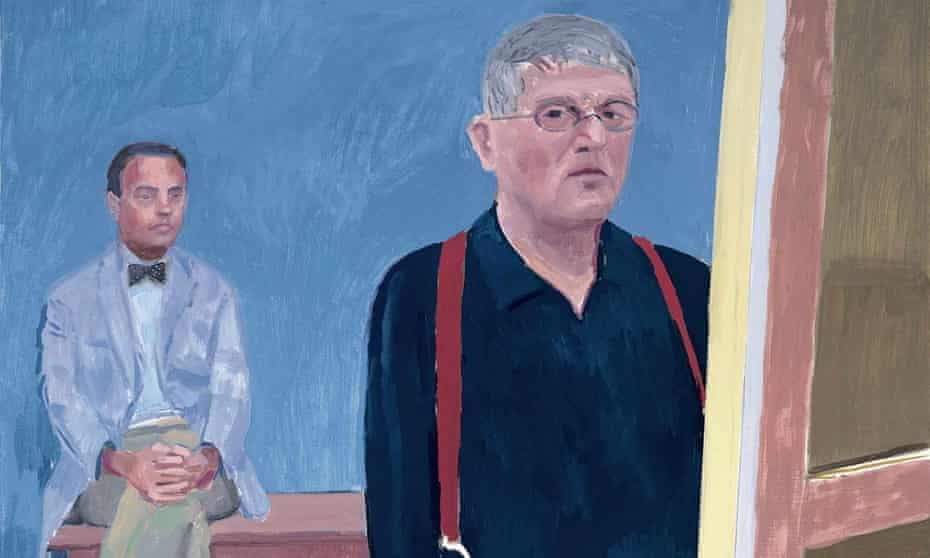Detail from David Hockney's Self-portrait With Charlie