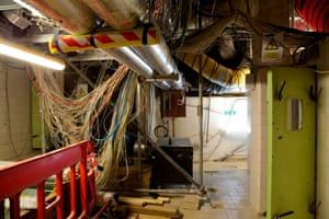 One of the 100 plant rooms in the basement of the Palace of Westminster.