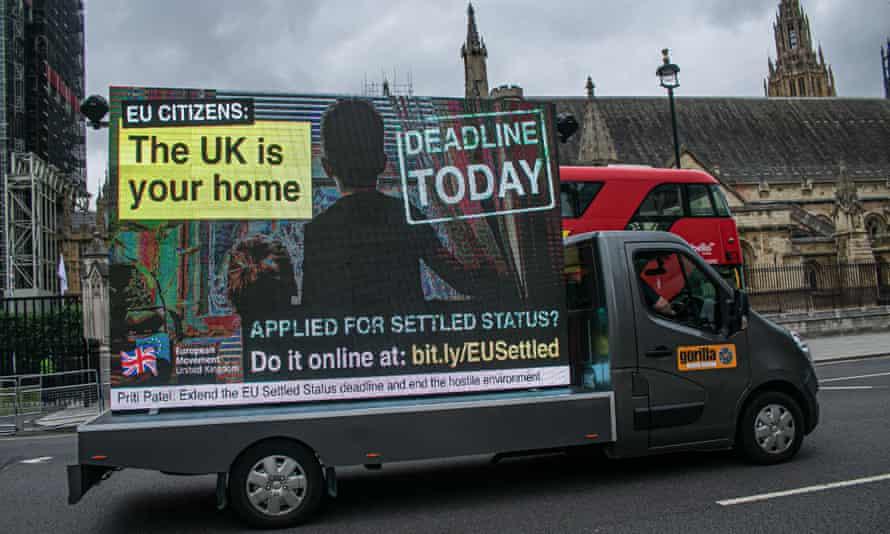 Home Office advertising van