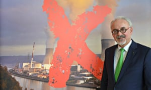 Helmut Echtenberg, the mayor of the Greater Aachen region, who is leading the campaign to close two ageing Belgian nuclear reactors.