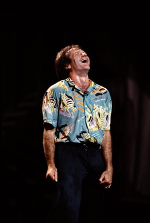 An Arthur Grace shot of Williams in performance in 1986