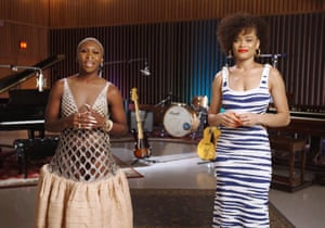 Cynthia Erivo in Lanvin and Andra Day in Dundas