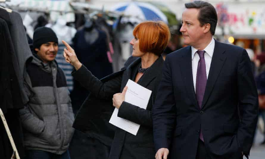 Mary Portas, seen here with David Cameron, has tried to revive shopping in provincial centres around the country.