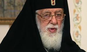 The patriarch of the Georgian Orthodox Church, Ilia II