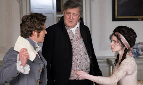 Nicely judged cameo … Stephen Fry, centre, with Xavier Samuel and Jenn Murray