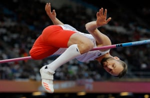 World Para Athletics Championships 2017Lukasz Mamczarz of Poland clears the bar in the men's high jump T42 final during the World Para Athletics Championships 2017 at the Olympic Stadium on July 22nd 2017 in London.