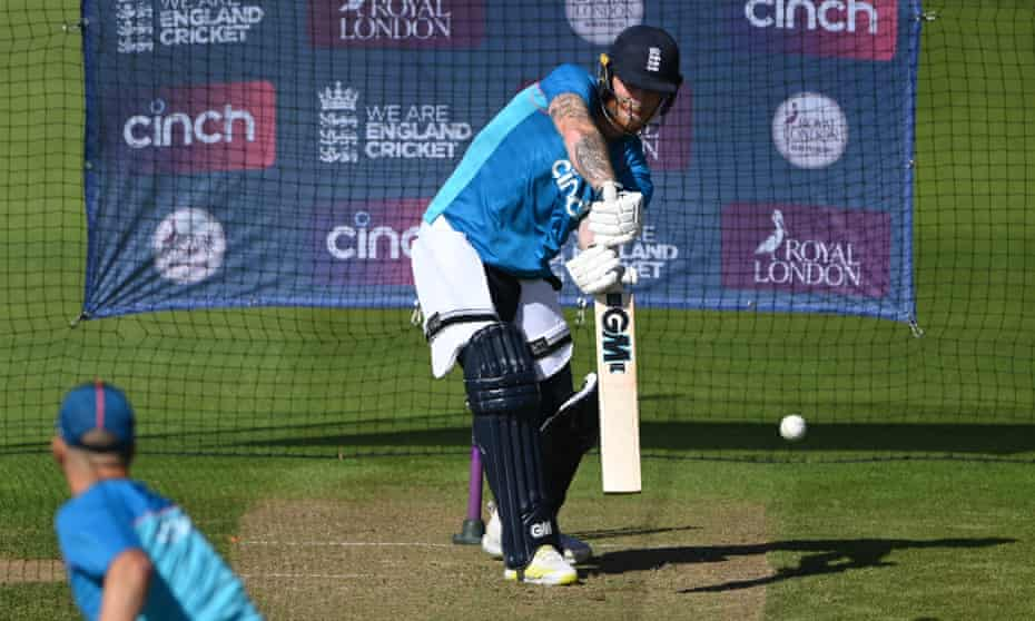 Ben Stokes gets in some batting practice at Sophia Gardens before Thursday's ODI series opener against Pakistan.
