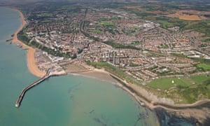 the Kent coast near Folkestone.