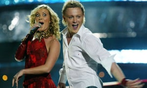 Jemini, UK entry for the 2003 Eurovision Song Contest received 'nul points'.