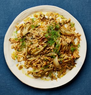 Yotam Ottolenghi's orzo pilaf with fennel and dill.