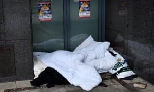 Bedding on the streets