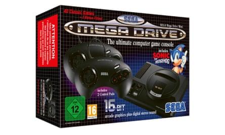 Perfectly modelled … Sega Mega Drive Mini.