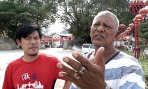 Film-maker Andrew Han with Mohd-Ishak