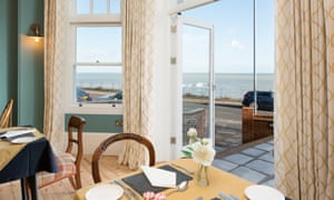 Dining room at the Bay Tree Hotel, Broadstairs, Kent, UK.