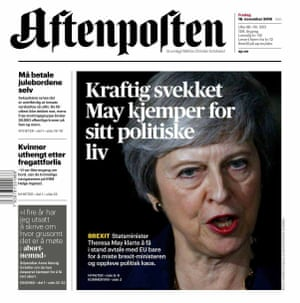 Friday 16th November front page