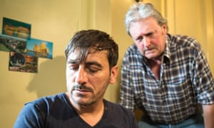 Chris Gascoyne, left, with Charles Lawson, on Coronation Street in 2014.