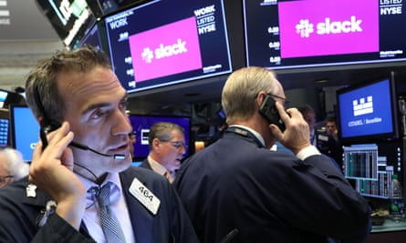 Traders work on the floor at the New York Stock Exchange in New York City Thursday.