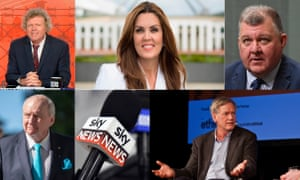 the Sky News media personalities Rowan Dean, Peta Credlin, Craig Kelly, Andrew Bolt and Alan Jones