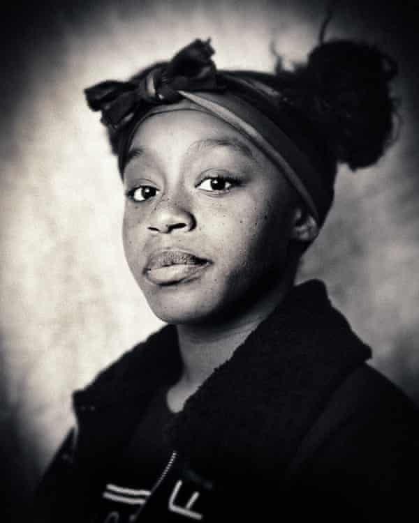 A traditionally created wet plate picture of a young member of the Ridley Road community.
