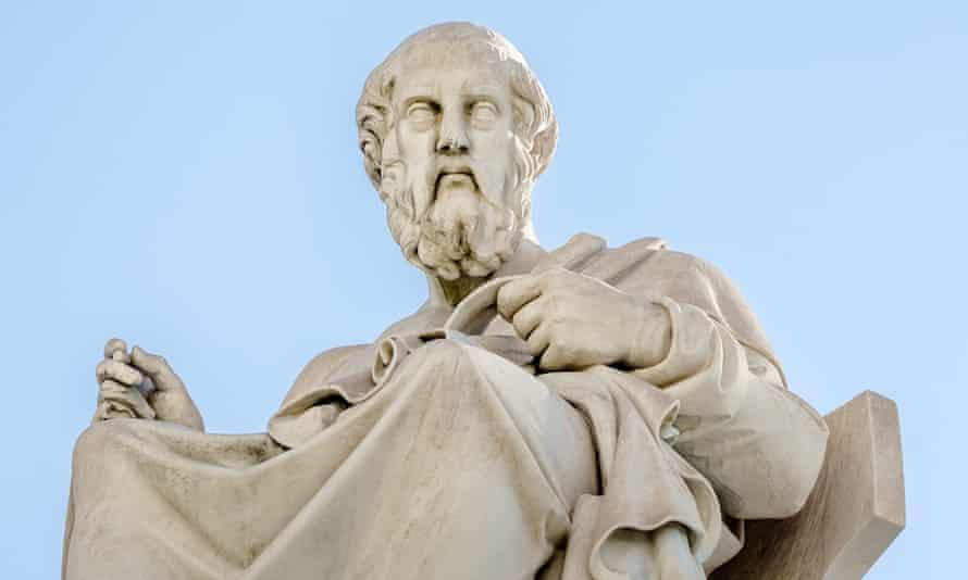 Marble statue of the Greek philosopher Plato