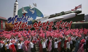 missiles paraded in Pyongyang