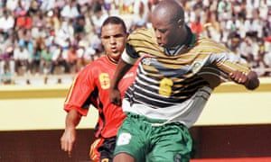 Phil Masinga in action during the African Nations Cup in 1998