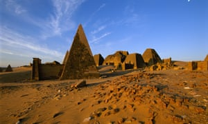 The pyramids of Meroe, Sudan
