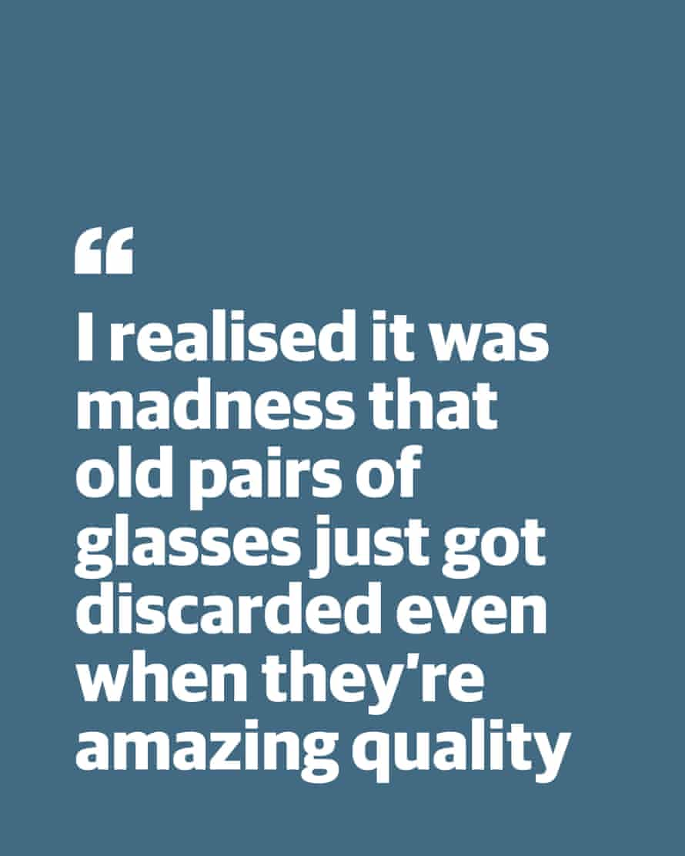 """Kutipan dari Lucy Crane: """"Saya menyadari itu gila untuk membuang kacamata tua meskipun kualitasnya luar biasa"""""""