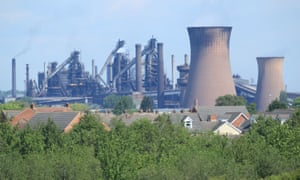The steelworks plant in Scunthorpe