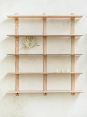 Grain makes flat-pack sustainable furniture that can be adapted rather than thrown away and is fully recyclable.Avon shelves, from £490, grain.co.uk