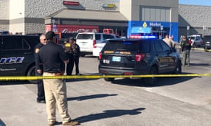 Law enforcement work the scene in Duncan, Oklahoma