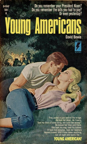 Young Americans by David Bowie reinvented as a pulp fiction book cover by graphic artist Todd Alcott.