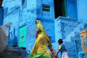 Street Level: Blue city