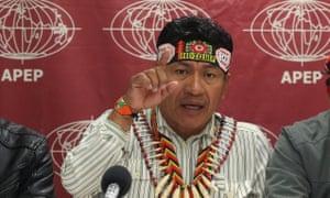 Quechua representative Aurelio Chino