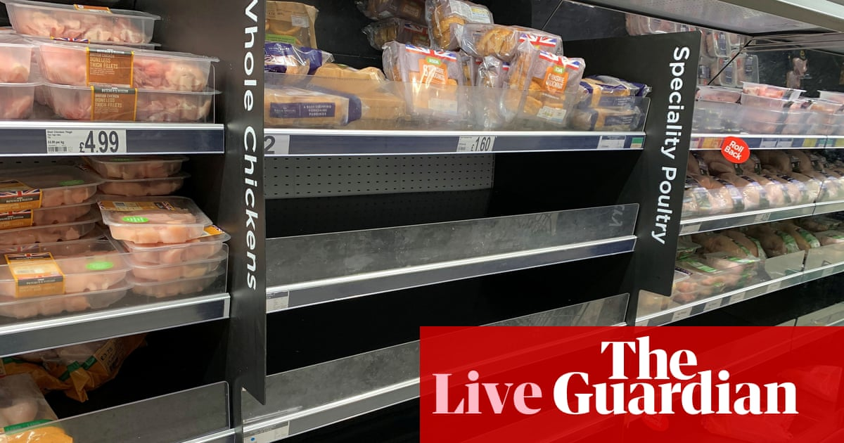 Government in talks to fix UK CO2 crisis; supply chain crisis hits factory growth – business live