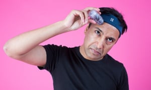 Rhik Samadder applies the Face Gym Training Stick