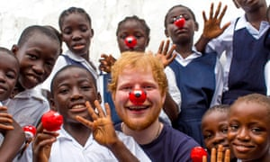 Ed Sheeran visits the Street Child Liberia project for Red Nose Day