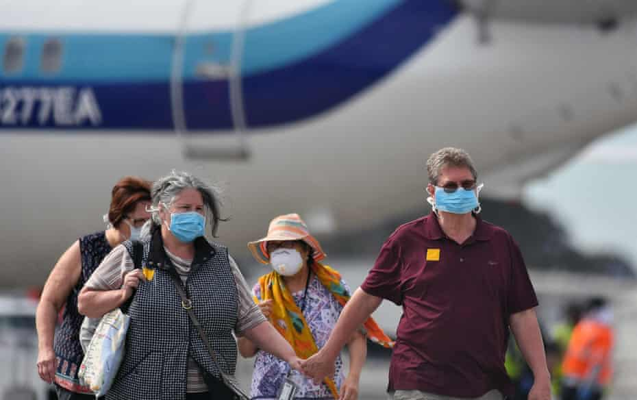 Some passengers were flown to other states where they would quarantine for 14 days.